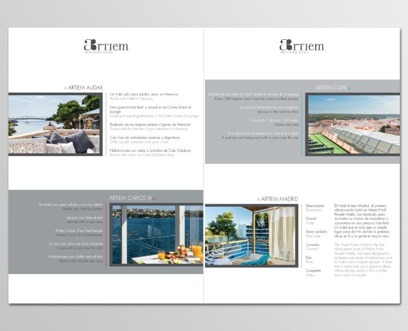 Connu Mise en page Brochure pour hôtels de luxe - Trank Studio KR63